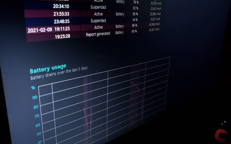 Como obter o relatório da bateria do Windows 10